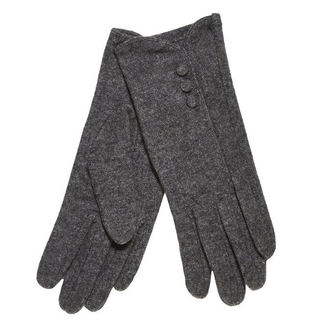Damskie rękawiczki z guziczkami bata, szary, 909-2405 - 13
