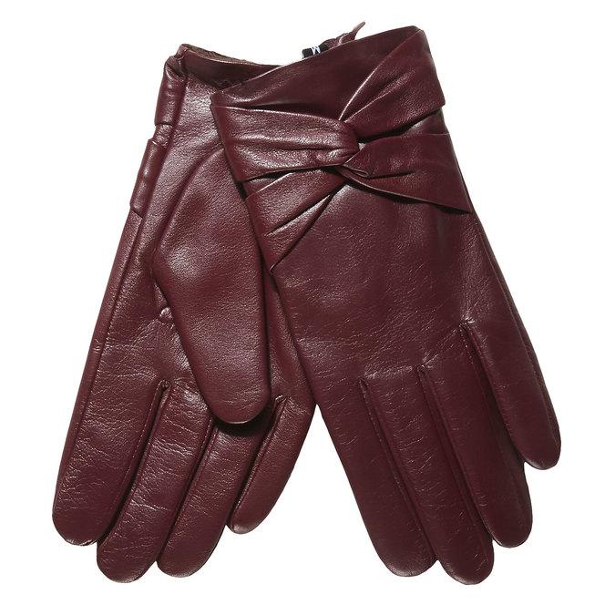 Skórzane damskie rękawiczki bata, czerwony, 904-5109 - 13