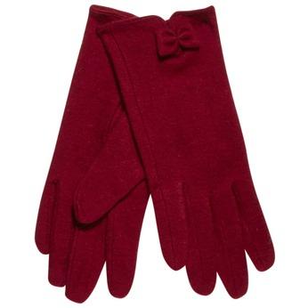 Damskie rękawiczki z kokardką bata, czerwony, 909-5404 - 13