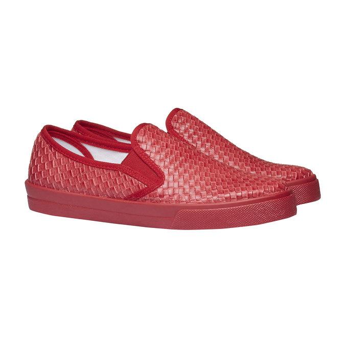 Damskie buty typu plimsoll north-star, czerwony, 531-5119 - 26