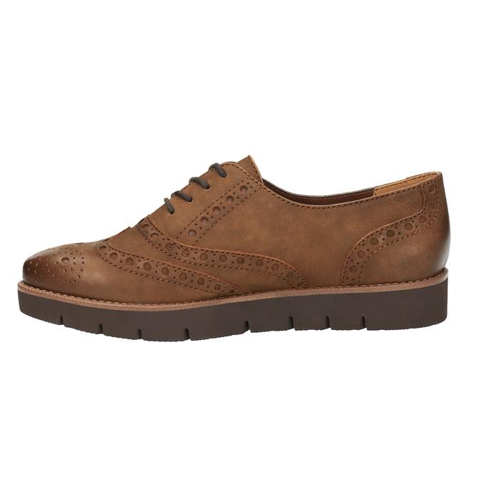 Półbuty damskie ze skóry bata, brązowy, 526-4600 - 26