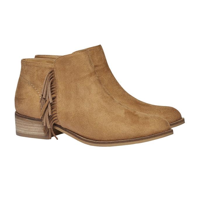 Kozaki do kostki z frędzlami bata, brązowy, 599-3102 - 26