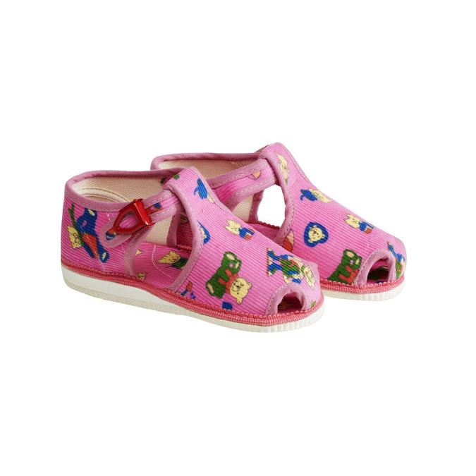 Kapcie dziecięce bata, różowy, 179-5210 - 26