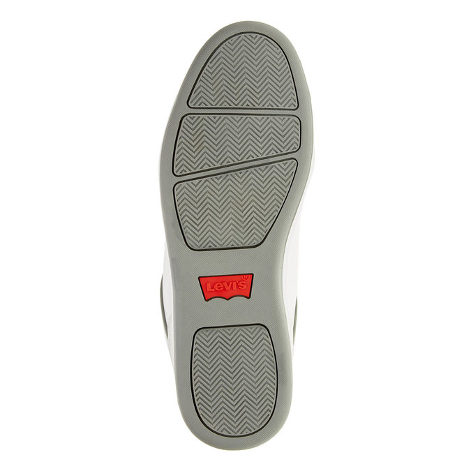 Męskie buty sportowe z dżinsowymi sznurówkami levis, biały, 841-1551 - 26