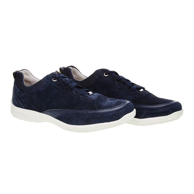 Skórzane buty sportowe na co dzień, niebieski, 843-9643 - 26