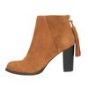 Skórzane botki z chwostem bata, brązowy, 793-4601 - 26