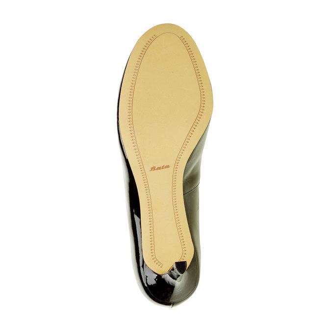 Damskie czółenka z lakierowanej skóry bata, czarny, 728-6953 - 26