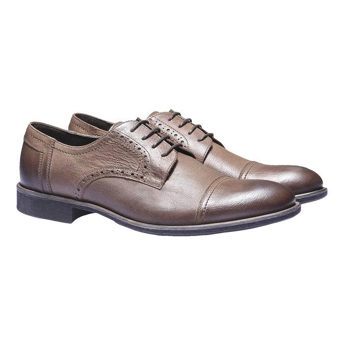 Skórzane półbuty w stylu Derby bata, brązowy, 824-3274 - 26