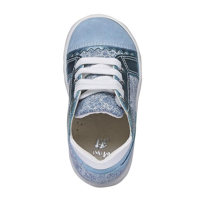 Dziecięce buty sportowe do kostki bubblegummer, niebieski, 129-9146 - 19