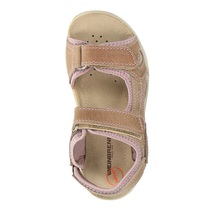Dziecięce skórzane sandały weinbrenner-junior, brązowy, 366-3170 - 19