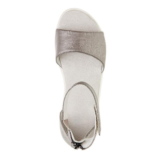 Sandały z paskiem wokół kostki bull-boxer, szary, 421-2002 - 19