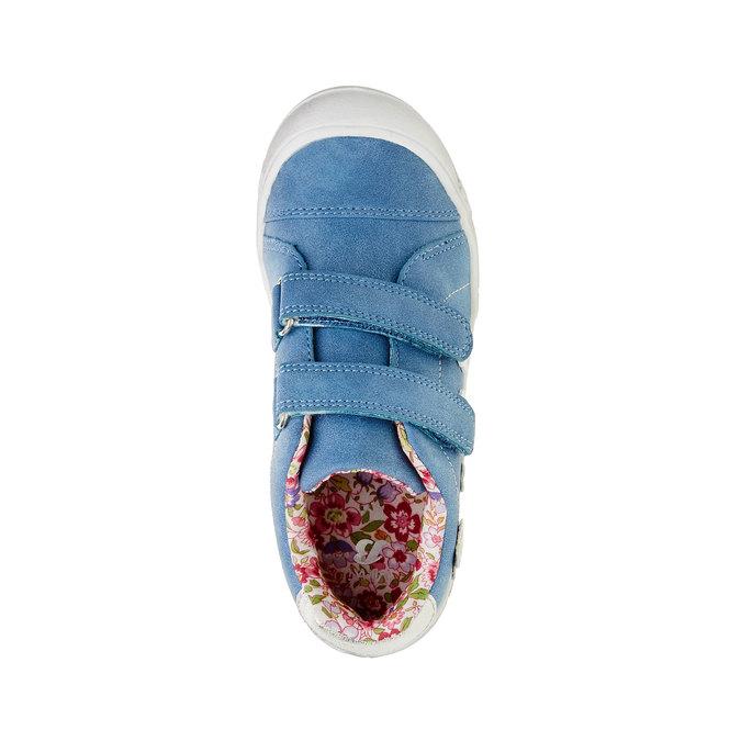 Dziewczęce buty sportowe na rzepy mini-b, niebieski, 221-9161 - 19