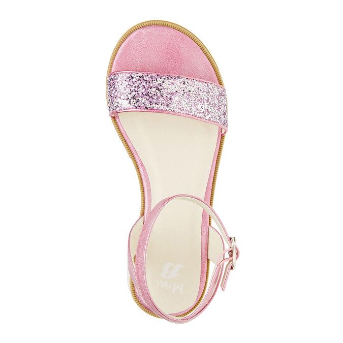 Sandały na platformie z brokatem mini-b, różowy, 361-5165 - 19