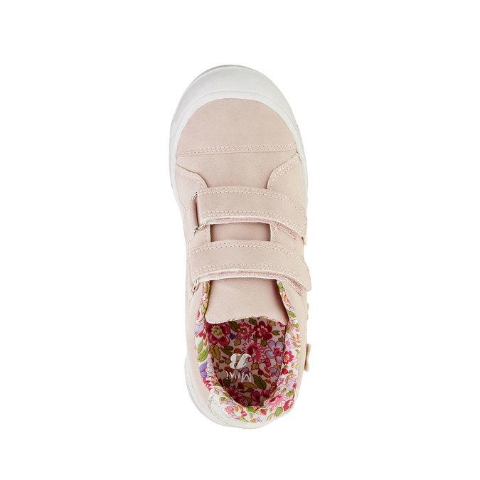 Dziewczęce buty sportowe na rzepy mini-b, różowy, 221-5161 - 19