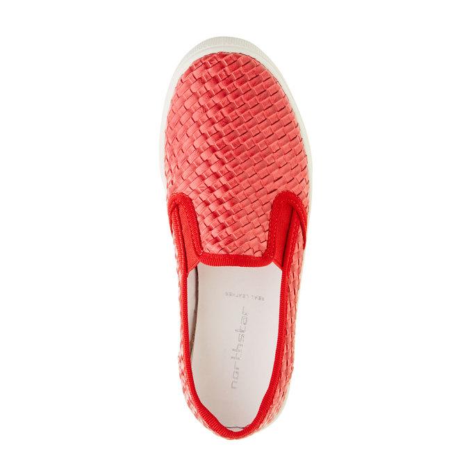 Dziecięce buty Slip On w kolorze czerwonym north-star-junior, czerwony, 321-5186 - 19