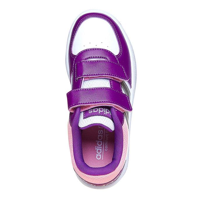 Trampki dziecięce na rzepy adidas, fioletowy, 301-1167 - 19