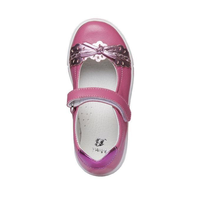 Dziewczęce pantofelki z kokardką mini-b, czerwony, 224-5165 - 19