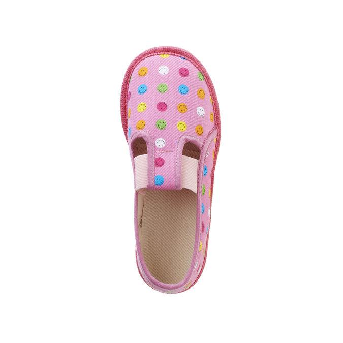 Dziecięce pantofle z uśmieszkami bata, różowy, 179-5105 - 19