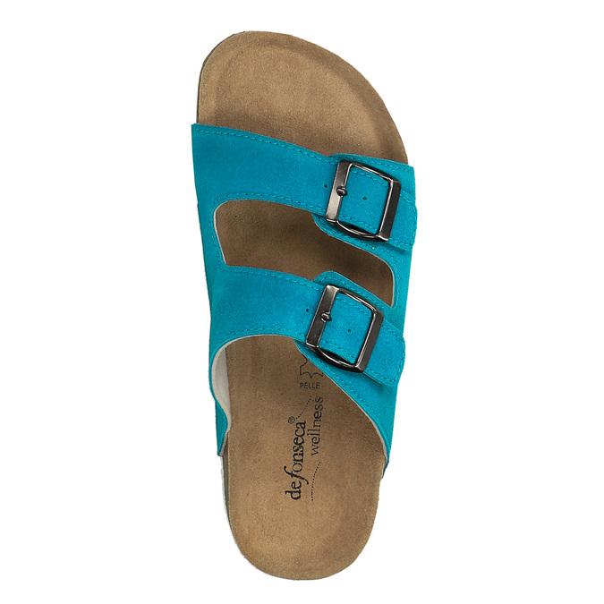 Damskie skórzane pantofle de-fonseca, 573-9620 - 19