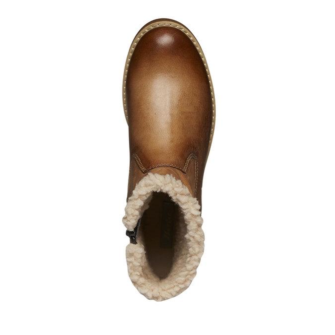 Skórzane buty zimowe bata, brązowy, 594-3101 - 19