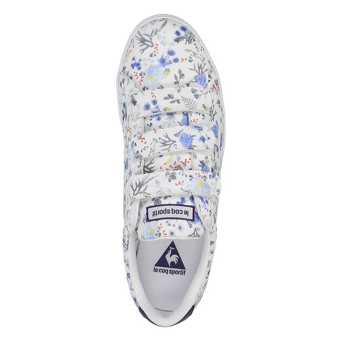 Damskie tenisówki z nadrukiem w kwiaty le-coq-sportif, biały, 501-1401 - 19