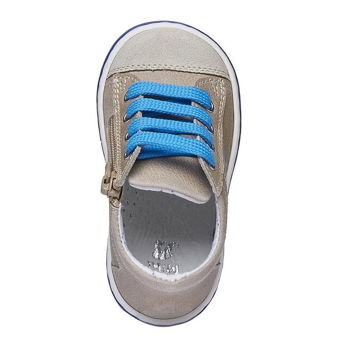 Dziecięce skórzane buty sportowe bubblegummer, brązowy, 114-3146 - 19