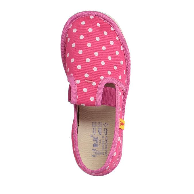 Domowe buty dla dziewcząt w kropki bata, różowy, 279-5103 - 19