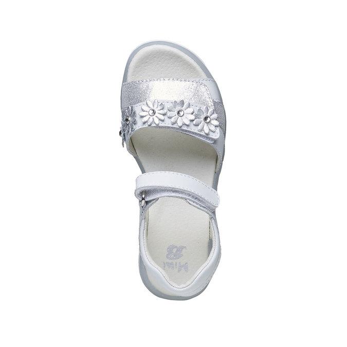 Białe skórzane sandały mini-b, biały, 264-1163 - 19