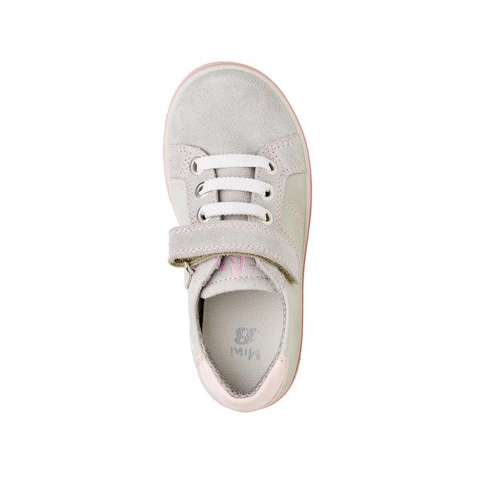 Dziecięce skórzane buty sportowe mini-b, szary, 323-2120 - 19