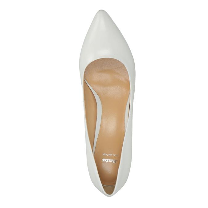Białe czółenka ze skóry bata, biały, 624-1630 - 19