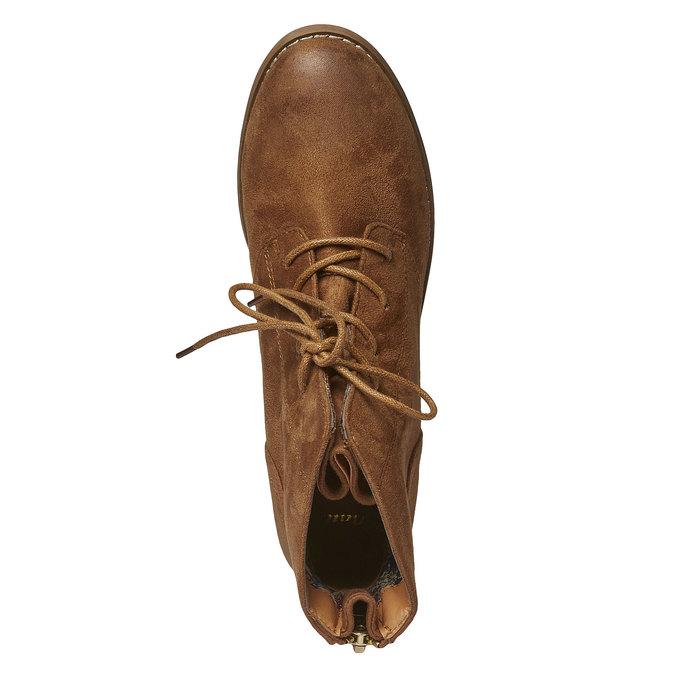 Skórzane sznurowane buty bata, brązowy, 599-3493 - 19
