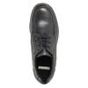 Skórzane półbuty z przeszyciami na nosku bata, czarny, 826-6640 - 19