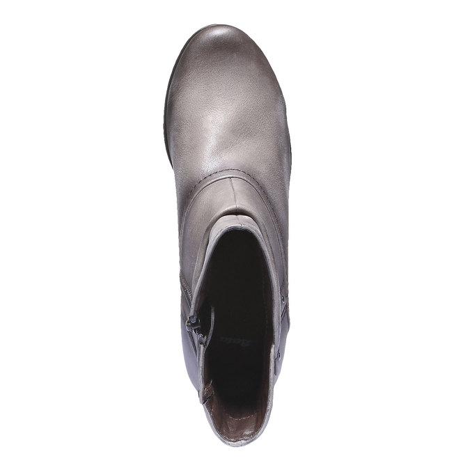 Skórzane botki bata, szary, 696-2100 - 19