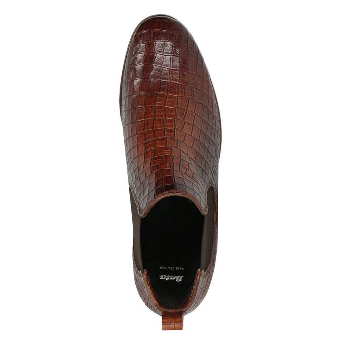 Chelsea boots ze skóry bata, brązowy, 596-4606 - 19