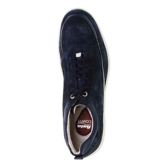 Skórzane buty sportowe na co dzień, niebieski, 843-9643 - 19