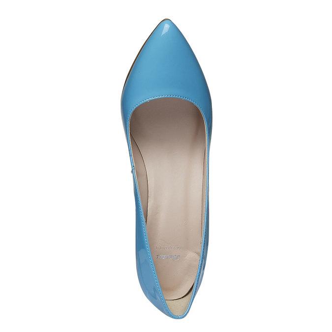 Niebieskie skórzane czółenka bata, niebieski, 728-9955 - 19