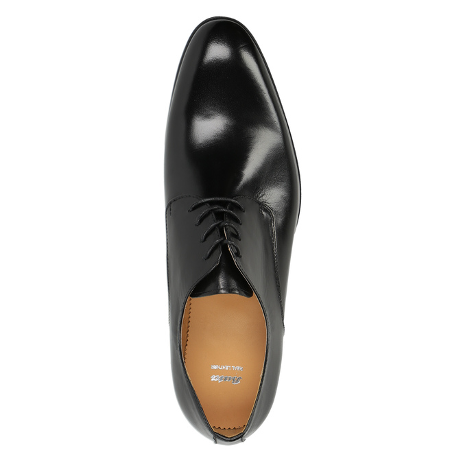 Półbuty męskie ze skóry bata, czarny, 824-6648 - 19
