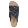 Kapcie męskie ze skóry de-fonseca, niebieski, 873-9610 - 19