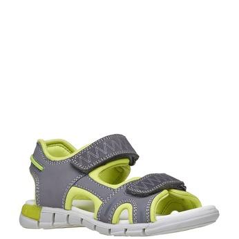 Dziecięce sandały ze skórzanymi paskami mini-b, szary, 264-2166 - 13