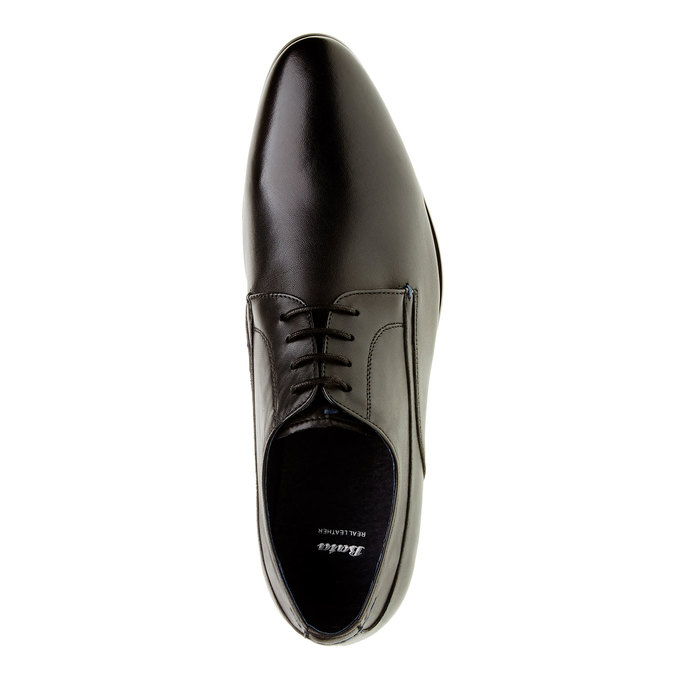 Męskie skórzane półbuty bata, czarny, 824-6663 - 19