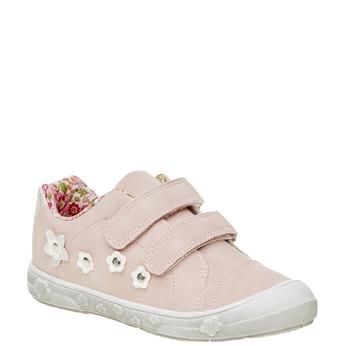Dziewczęce buty sportowe na rzepy mini-b, różowy, 221-5161 - 13