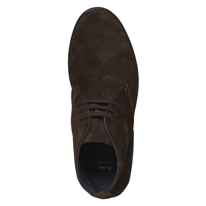 Zamszowe półbuty bata, brązowy, 893-4387 - 19