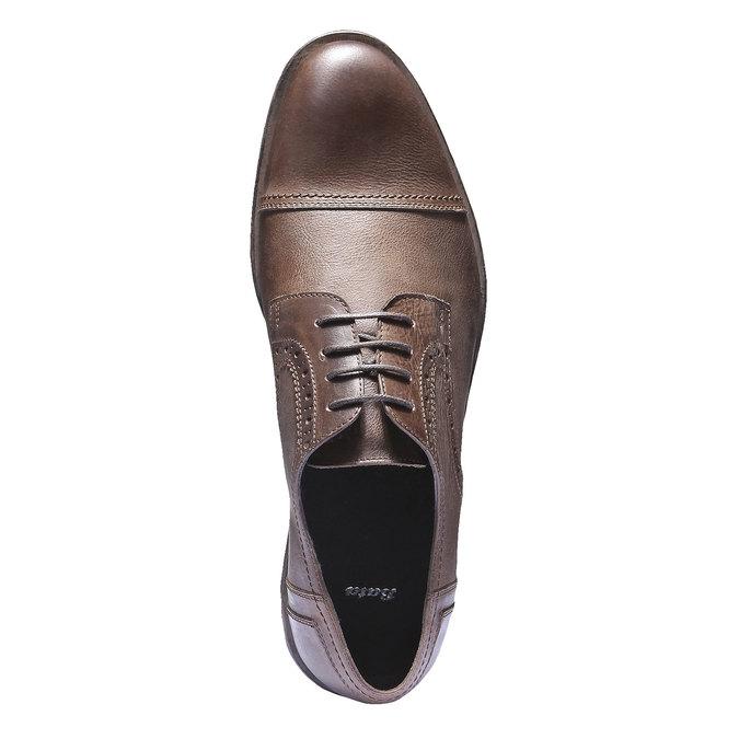 Skórzane półbuty w stylu Derby bata, brązowy, 824-3274 - 19