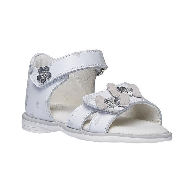 Białe sandały dziecięce bubblegummer, biały, 164-1129 - 13