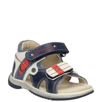 Sandały dziecięce mini-b, niebieski, 161-9100 - 13