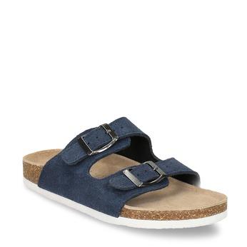 Dziecięce niebieskie pantofle de-fonseca, niebieski, 373-9600 - 13