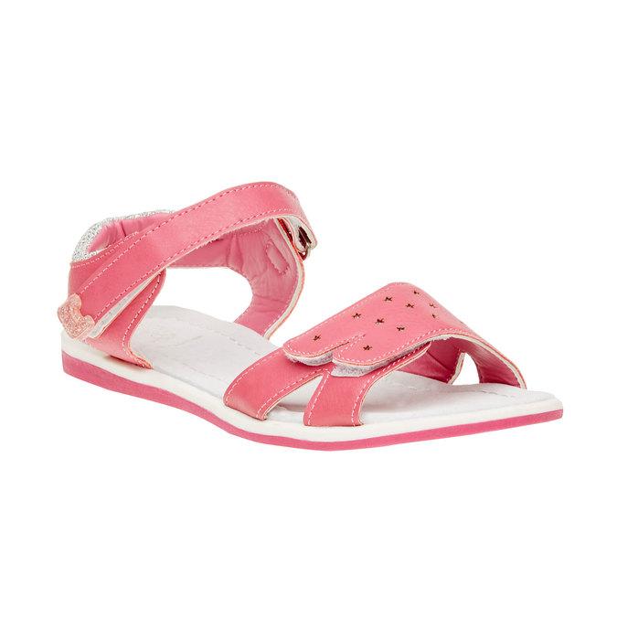 Dziewczęce sandały na rzepy mini-b, różowy, 361-5180 - 13