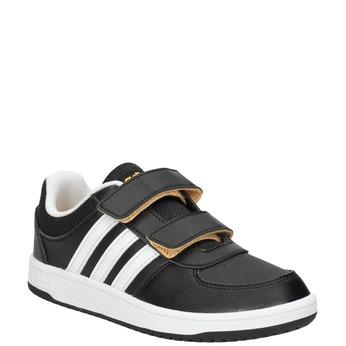Trampki dziecięce na rzepy adidas, czarny, 301-6167 - 13