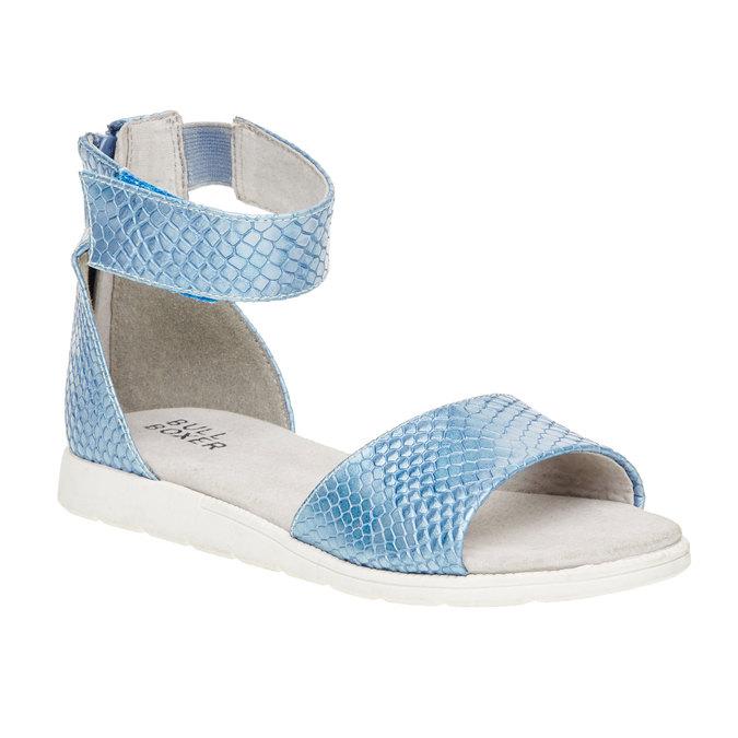 Sandały z paskiem wokół kostki bull-boxer, niebieski, 421-9002 - 13