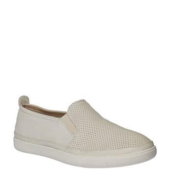 Skórzane buty Plim Soll z perforacją bata, biały, 514-1197 - 13